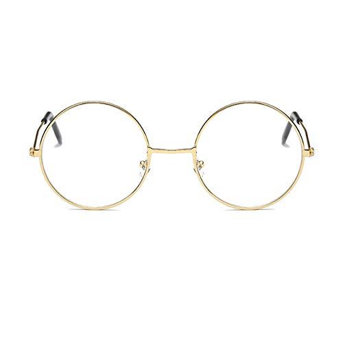 YUNCAT Unisex Silber Und Schwarz Beatles Retro Style rund Metall Brillen