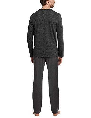 Schiesser Herren Zweiteiliger Schlafanzug Anzug Lang Grau (Anthrazit 203)