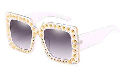 GFF 57g Niet Rand Quadrat Sonnenbrille Frauen Marke Brille Damen Retro Glitter Designer Mode Männlich Weiblich 45362