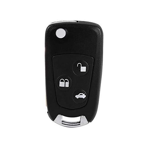Aramox - Custodia per chiave a distanza, non tagliata, per Focus Ka Mondeo, 3 pulsanti