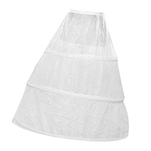 MagiDeal 3-Hoop Knochen Hochzeit Ballkleid Krinoline Petticoat