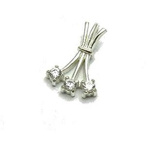 Sterling silber anhänger mit 3x2.5mm runde KZ 925 Empress jewellery