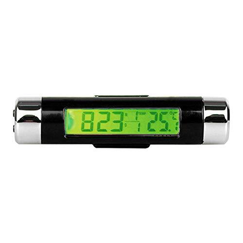 Termometro di misurazione strumento Termometro per auto con orologio verde