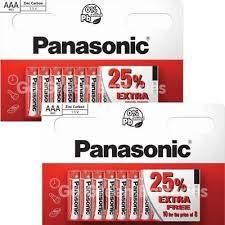 20 x AAA-Batterien von Panasonic, 5 Karten à 4 Batterien