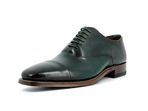 Gordon & Bros. Herren Schnürhalbschuhe Fabien 6266, Männer Businessschuh, anzugschuh Office maennliche maskulin rustikal Men,Green,45 EU / 11 UK