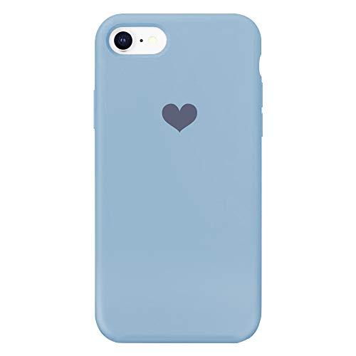 13peas Kompatibel mit iPhone 7 Hülle Silikon Schutzhülle Handyhülle iPhone 7 Plus Silikonhülle Herz Motiv schutzschale Hüllen Tasche Handytasche Weiche Etui (9, iPhone 7)