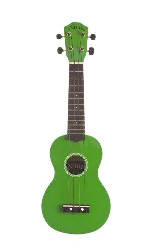 Ukulele Noir by Baton Rouge - grün - mit Tasche