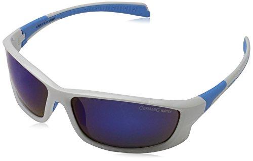 Alpina Sonnenbrille Amition FENNO Outdoorsport-brille, White/Cyan, One Size