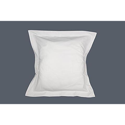 ES-TELA - Funda de cojín COMBI LISOS color Blanco - Medidas 40x40 cm. - 50% Algodón-50% Poliéster - 144