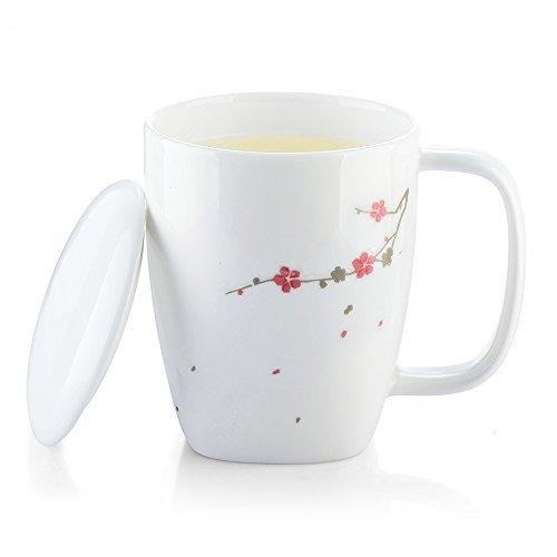 ZENS Lifestyle Mug Magique en céramique, Mug Tasse Thermoréactif, 300ml, Motif de Fleurs de Prunier, 2 Euros de Remise en l'achat de 2 Sets