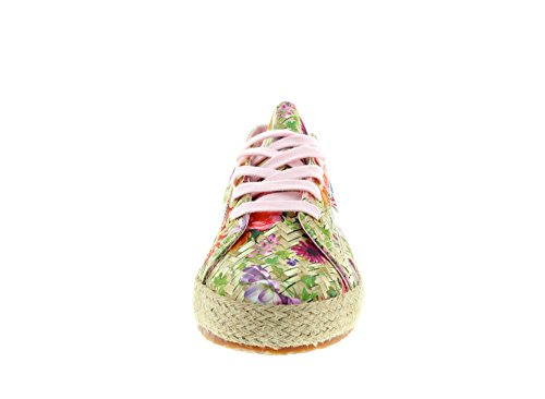 Superga Damen 2750 Fabricfanplropew Sneakers Mehrfarbig (weaving natural pink)