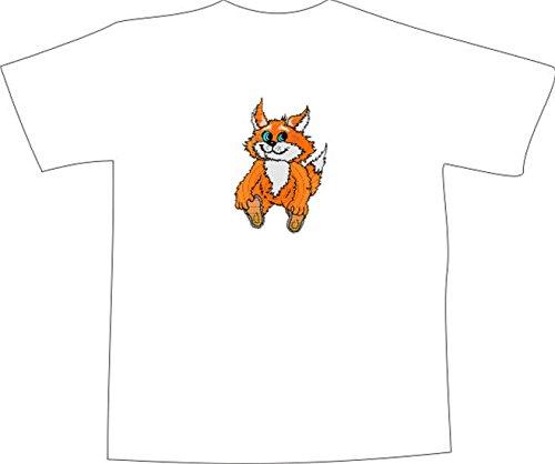 T-Shirt E856 Schönes T-Shirt mit farbigem Brustaufdruck - Logo / Grafik ...