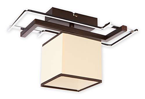 Elegante techo en color wengué Beige Bauhaus Diseño 1x E27hasta 60W 230V de acero & textil Piso Salón comedor lámpara lámpara iluminación