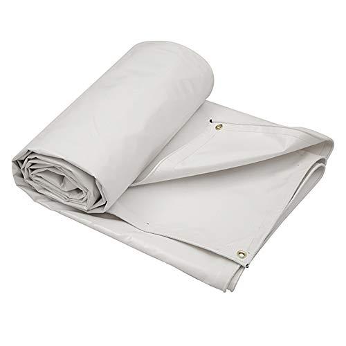 MSF Bâches Bâche Blanche résistante avec Oeillets en métal, PVC Haute densité - 0.6 mm d'épaisseur, 650g / m², 100% étanche et protégée Contre Les Rayons UV, résistant à la déchirure
