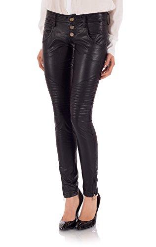 Ventifive - Pantalone Luisa Nero, Taglia 48
