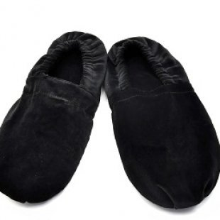Chaussons chauffants noirs pointure 40-45