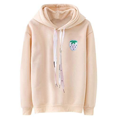 Sunnyuk Hoodie mit Aufdruck für Teenager mädchen, Kapuzenpullover lang Basic Sweatshirts Streetwear Frühlings Herbst Freizeit -