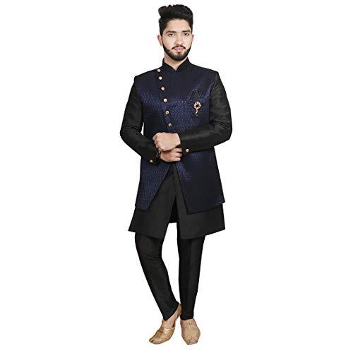 SG RAJASAHAB Sherwani For Men (UP-12790-RBLUE-40)