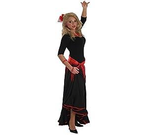 LLOPIS  - Disfraz Adulto Falda rociera Adulto Negra