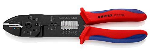 KNIPEX 97 22 240 Crimpzange schwarz lackiert mit Mehrkomponenten-Hüllen 240 mm