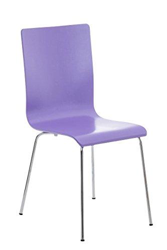 Besucherstuhl, Konferenzstuhl, Wartezimmerstuhl, Esszimmerstuhl, Stuhl, Stapelstuhl, Küchenstuhl, Wartestuhl, Messestuhl Stuhl Holz lila #Pepe