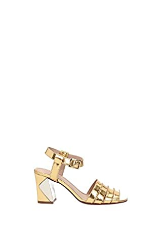 Sandals Tory Burch Women Leather Gold 11168572GOLD Gold 4UK