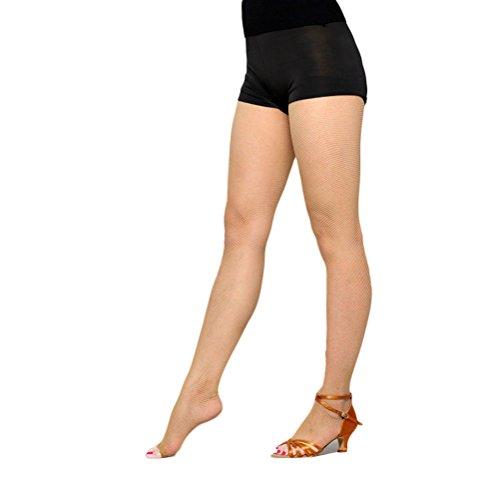 Nanxson(TM) Collant Résille Femme Sans Pied Sexy Pour Danse Latine WZWL0012 (couleur chair)