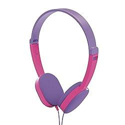 Hama Kinderkopfhörer Kids (Lautstärkebegrenzung 85 dB, On-Ear Ohrhörer, begrenzt, ultraleicht, verstellbare Bügel, Kinder-Kopfhörer für Tip-Toi Stift geeignet, für Mädchen ab 4 Jahre) lila/pink