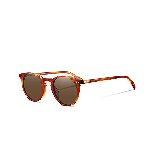 Sonnenbrille Retro Vintage Sonnenbrille Designer's Frauen Männer Polarisierte Sonnenbrillen Sir O'Malley Männlichen Fahren Outdoor Sonnenbrille Gelb Vs Braun