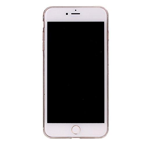 """MOONCASE Ultra-mince Motif Marbre Naturel Vert Rayure TPU Silicone Housse Coque Etui Gel Case Cover Pour iPhone 7 Plus 5.5"""" Noir"""