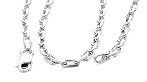 3mm Robuste massive 925 Silber 70cm Ankerkette Männer Herren Halskette in Juwelierqualität #725