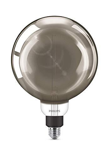 Philips LEDclassic Giant Dekolampe, Vintage Industrial Design ersetzt 25W, E27, neutralweiß (4000Kelvin), 270 Lumen, Globe, smoky