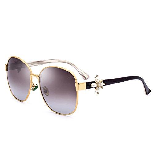 HEPIDEM Acetat Sonnenbrille Metall Frauen berühmten Sexy Female Damen 9212, Braun