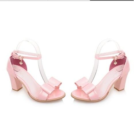 CH&TOU Da donnaFormale-Punta arrotondata-Quadrato-Finta pelle-Verde / Rosa / Bianco / Argento pink