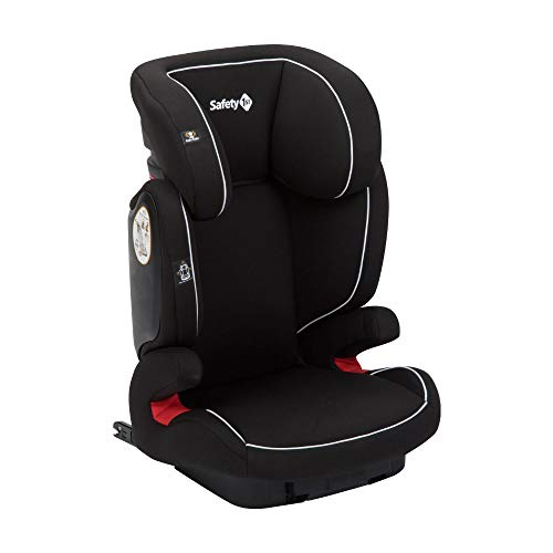 Safety 1st Road Fix-Kindersitz, Gruppe 2/3, praktischer Autositz mit ISOFIX-Installation, höhenverstellbar, nutzbar ab 3 - 12 Jahre, ca. 15 - 36 kg, full black (schwarz)
