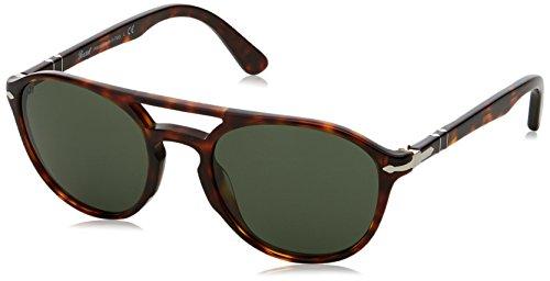 Persol 3170, occhiali da sole unisex adulto, marrone (havana/green), 52