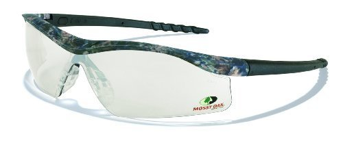 MCR Safety MODL119AF Mossy Oak Single Lens Glasses with Dallas Camo Frame and Clear Anti-fog Lens by MCR Safety