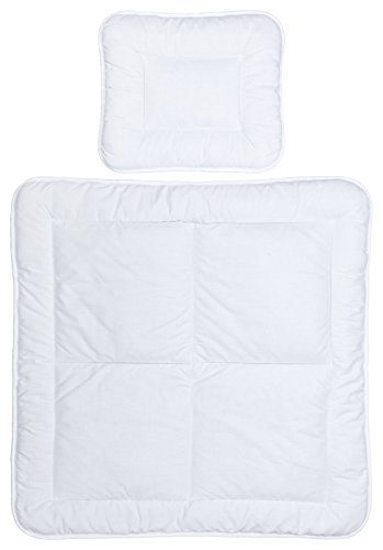 MOON Baby Bettdecken Set 80x80 / 35x40 Stubenwagen Beistellbetten Wiegen 50% Baumwolle 50% Polyester 95° kochfest