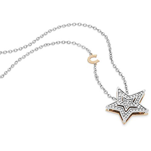 Collana girocollo comete gioielli stelle in oro bianco glb1446