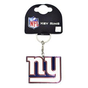 Offizieller NFL, aus Metall, Wappen Schlüsselanhänger (verschiedene Mannschaften zur Auswahl, Lieferung in offizieller Geschenkverpackung, Ideal als Geschenk, Blau - New York Giants, Small (New York Giants Ring)