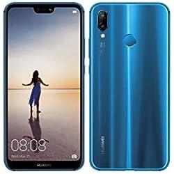 """Huawei P20 Lite Single SIM 4G 64GB Black, Blue - Smartphones (14.8 cm (5.84""""), 64 GB, 16 MP, Android, 8.0 Oreo + EMUI 8.0, Black, Blue)"""