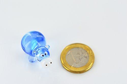 Río caballo Mini Azul Cristal-Figura decorativa de cristal (hipop