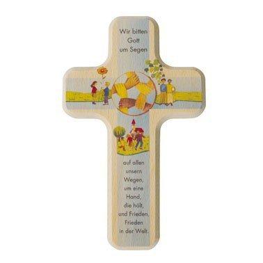 Holzkreuz Kinder-kreuz Wir bitten Gott um Segen 18 x 11 cm