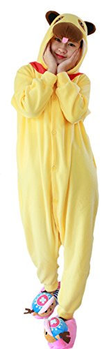 Herren Ideen Halloween Lustige Kostüm Selbstgemacht (Honeystore Pyjama Tieroutfit Tierkostüme Chinesischer Palasthund Schlafanzug Tier Onesize Sleepsuit mit Kapuze)