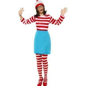 Kostüm Wally Where's Wenda - Womens Wheres Wally Wenda Fancy Dress Kostüme Small (UK 8-10)