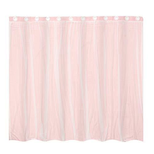 ExcLent Mittelmeer Blockout Double Layer Braut Lace Sheer Eyelet Vorhänge Pink White - L