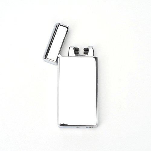 VOSO USB Elektronisches Feuerzeug Aufladbar Lichtbogen (Silbrig)