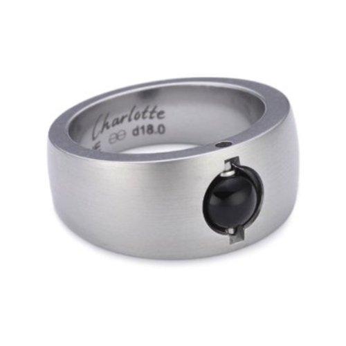 Charlotte Damen-Ring-Grundform Cha21 d17,5 Edelstahl 00111137