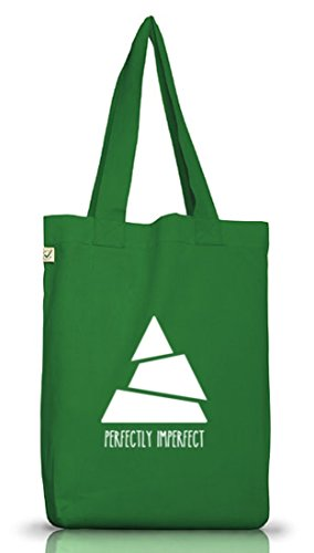 Perfectly Imperfect, Triangle Dreieck Jutebeutel Stoff Tasche Earth Positive (ONE SIZE) Moss Green