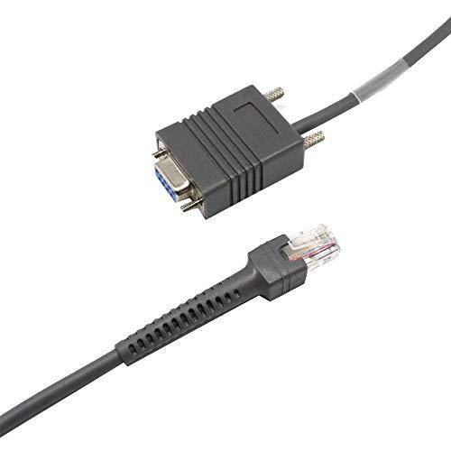 RS232-serielles Kabel 7FT RJ45 auf DB9-Barcodescanner mit weiblichem Symbol CBA-R01-S07PAR (Schwarz)